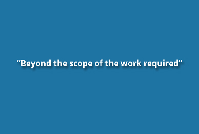 Beyond the scope of the work required